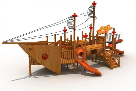 木质海盗船