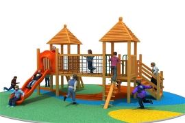 儿童木质组合滑梯