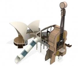 大提琴造型功能滑梯